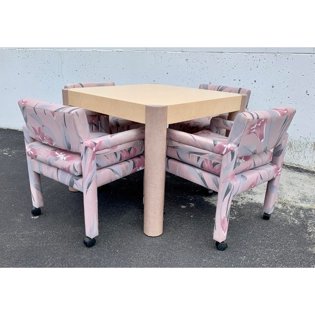 Thayer Coggin 1980s Vintage Thayer Coggin Parsons Chairs- Set of 4 For Sale - Image 4 of 7