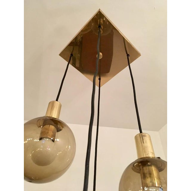 1970s 1970s Raak Dutch Smoked Glass Globe Ceiling Light For Sale - Image 5 of 10