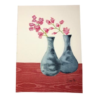 """Nancy Smith Mixed Media Still Life """"Fifties Revival"""" For Sale"""