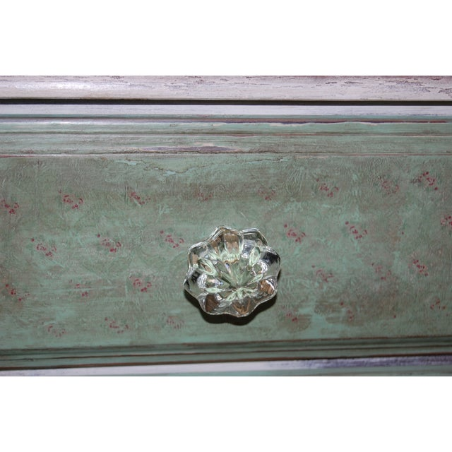 Vintage Shabby Chic Painted Green & White Dresser - Image 8 of 9