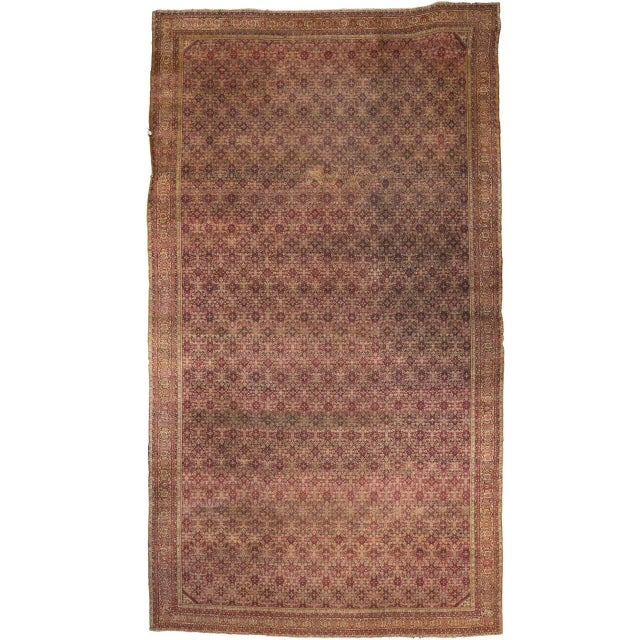 Antique Indian Agra Gallery Rug with Modern Style For Sale In Dallas - Image 6 of 6