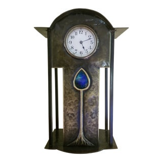 Seth Thomas Metal Jewel and Rounded Top Mantle Clock For Sale