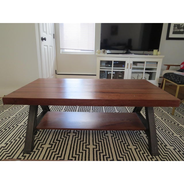 West Elm coffee table from a couple years ago, designed by Brooklyn furniture maker, Richard Velloso. Constructed of solid...