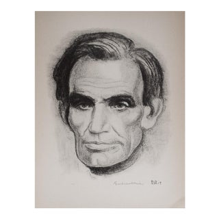 1939 Lincoln by Boardman Robinson Original Period Photogravure For Sale
