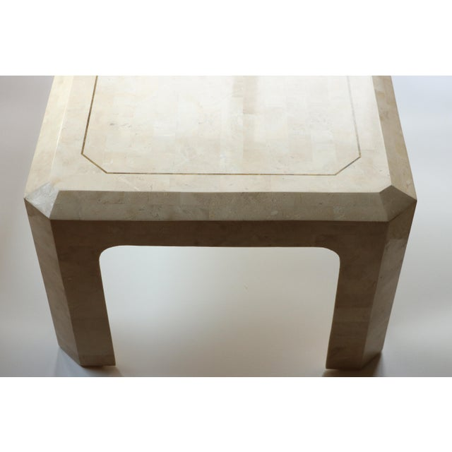 Maitland-Smith Style Tessellated Coral Stone Coffee Table For Sale - Image 5 of 9