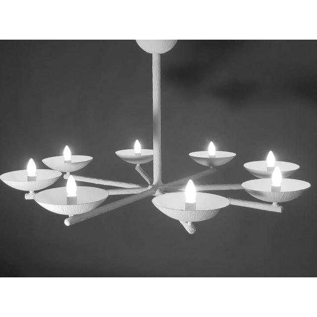 Plaster Spoke Chandelier With White Finish For Sale - Image 11 of 11