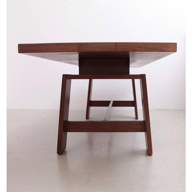 1960s Stunning Large Mahogany Dining Table by Silvio Coppola, Bernini Italy, 1960s For Sale - Image 5 of 8