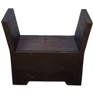 21st Century Vintage Moroccan Cedar Wood Bench For Sale