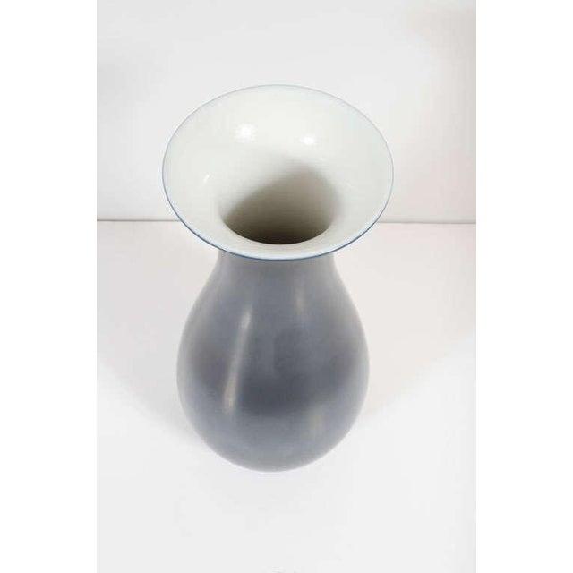 Richard Ginori Blue Urn Shaped Porcelain Vase For Sale In New York - Image 6 of 6