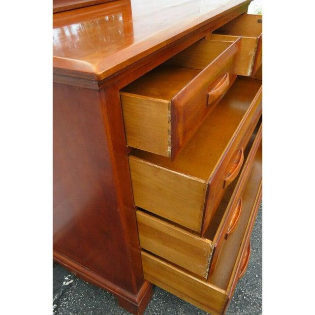 Mid Century Modern Maple Dresser Vanity With Mirror By Kling Furniture Chairish