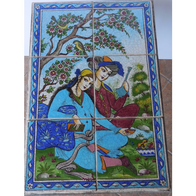 Vintage Persian Tile Coffee Table - Image 11 of 11