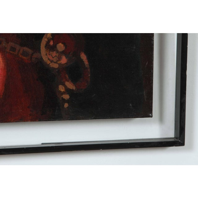 """Young Spanish Man in Black Coat"" Oil on Canvas For Sale In Los Angeles - Image 6 of 8"
