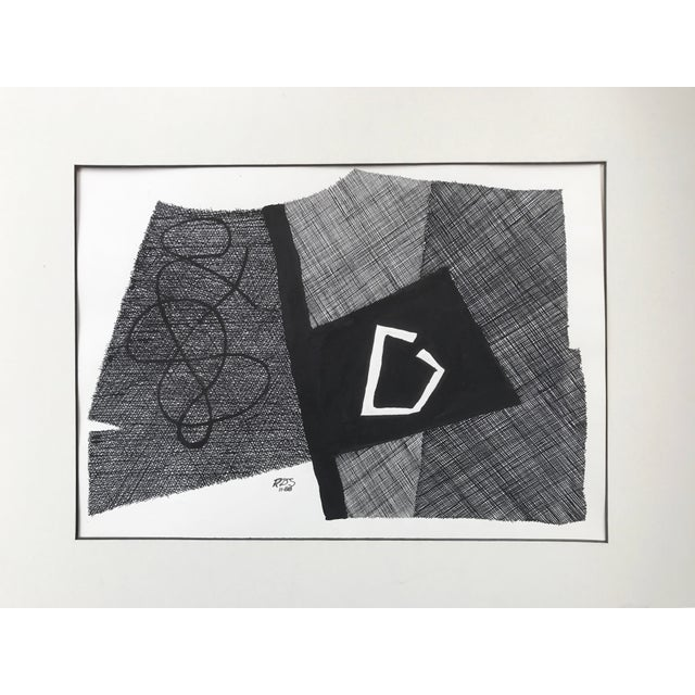 Vintage Roger Stokes Pen & Ink Abstract Drawing - Image 2 of 6