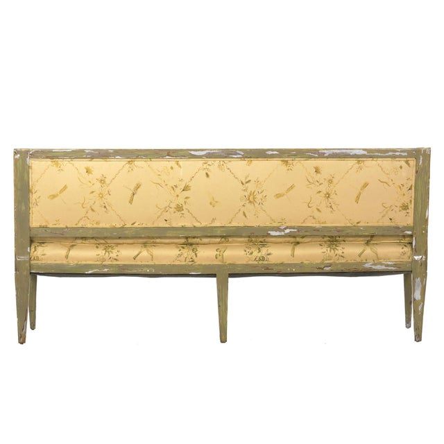 Italian Italian Neoclassical Gray Polychrome Painted Settee Sofa Canape, Early 19th Century For Sale - Image 3 of 13