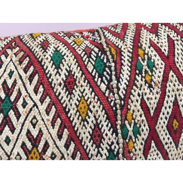 Moroccan Berber Pillow With Tribal African Designs For Sale - Image 11 of 13