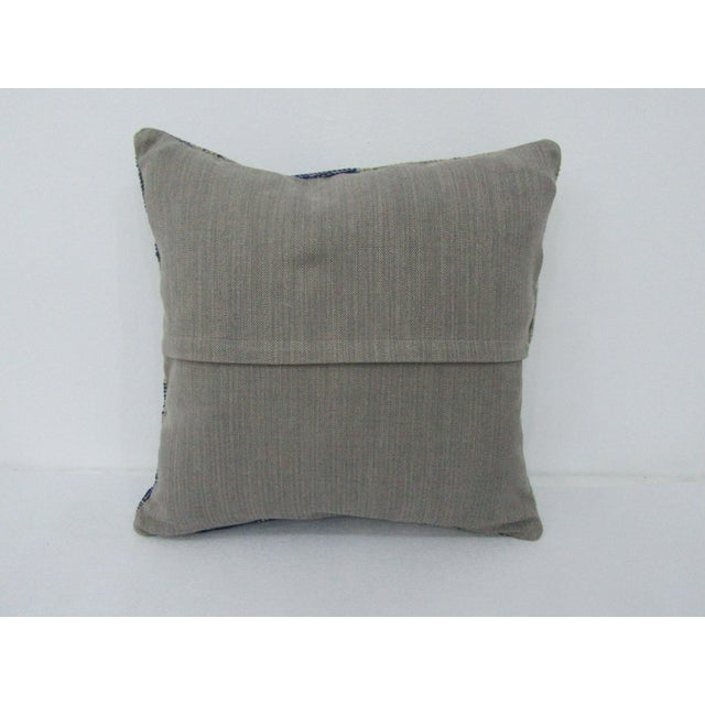 Turkish Vintage Turkish Navy Decorative Pillow Cover For Sale - Image 3 of 4