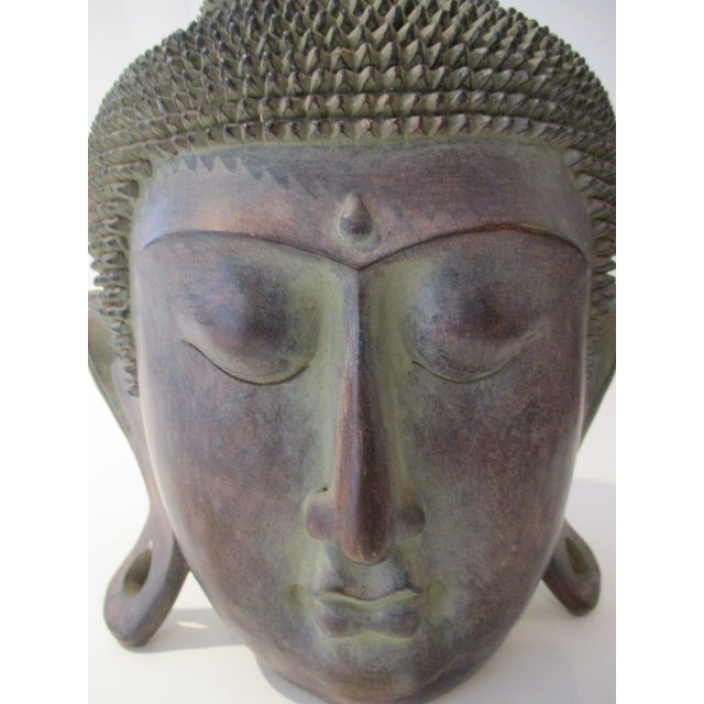 Resin Buddha Head Figure - Image 5 of 5