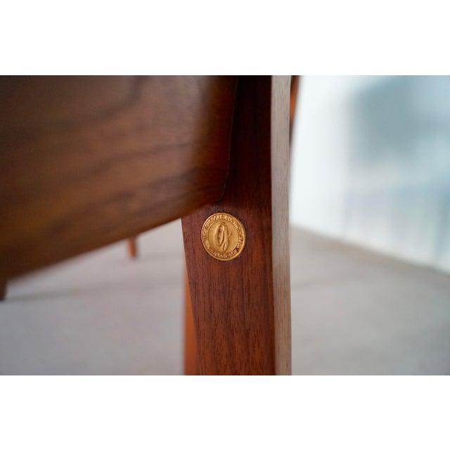 Black Gunlocke Mid-Century Modern Walnut Armchairs - A Pair For Sale - Image 8 of 13