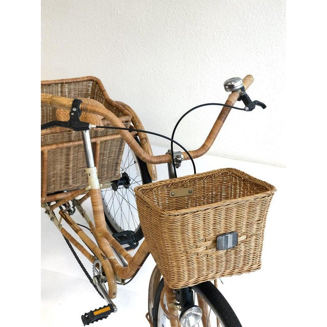 Wicker and Bamboo Tricycle For Sale - Image 10 of 12