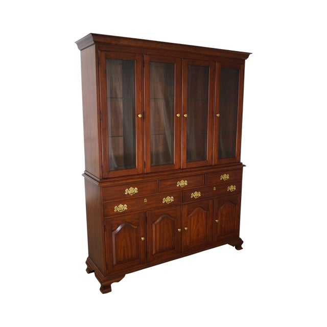 Henkel Harris Solid Cherry 2 Piece Breakfront China Cabinet - Image 1 of 10