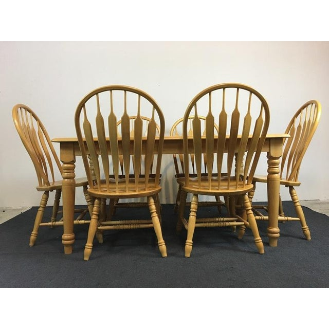 Country Carved Oak Dining Set - Image 3 of 11