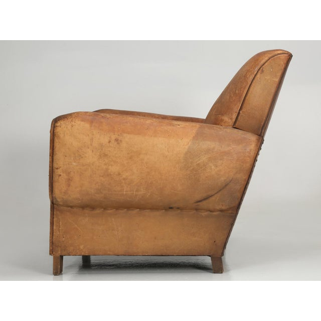 1930s French Art Deco Club Chair Carefully Restored For Sale - Image 5 of 13