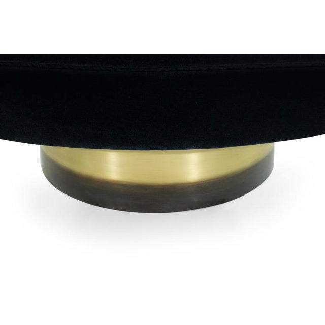 Adrian Pearsall for Craft Associates Swivel Chairs on Brass Bases - a Pair For Sale - Image 10 of 12