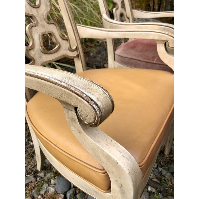 Leather Vintage Italian Dining Chairs Set 4 For Sale - Image 7 of 12