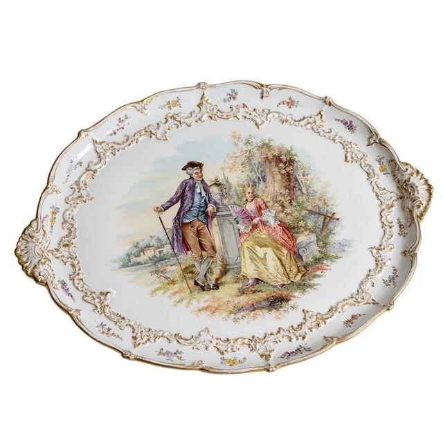 Meissen Porcelain Pastoral Scene Platter For Sale In West Palm - Image 6 of 6