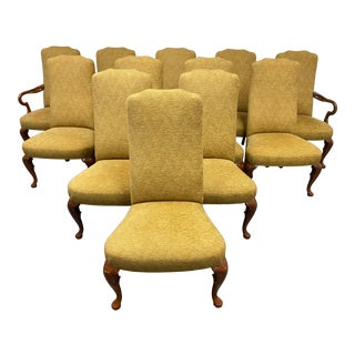 Hickory Chair Company Custom Dining Chairs - Set of 12 For Sale