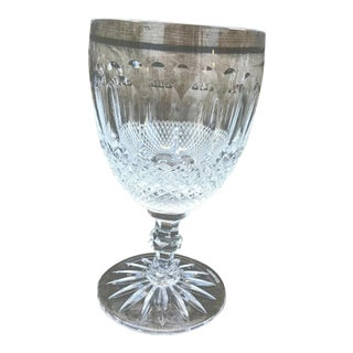 Large Vintage Waterford Crystal Colleen Essence Glass Goblet For Sale