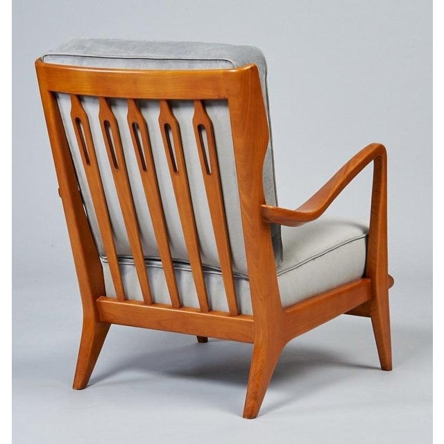 1950s Vintage Gio Ponti Exquisite Pair of Sculptural Armchairs- A Pair For Sale - Image 9 of 11