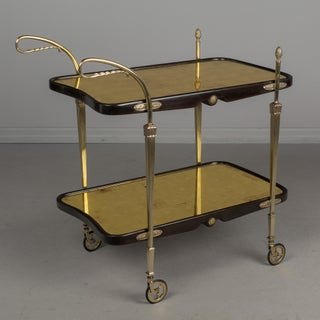 Cesare Lacca Italian Art Deco Brass and Mahogany Bar Cart Preview
