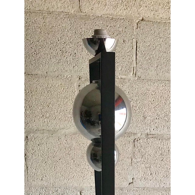 Cast Iron Mid-Century Modern Style Floor Lamp For Sale - Image 7 of 12