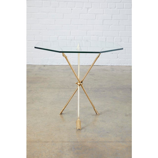 Pair of Maison Jansen Style Directoire Arrow Drink Tables For Sale - Image 9 of 13
