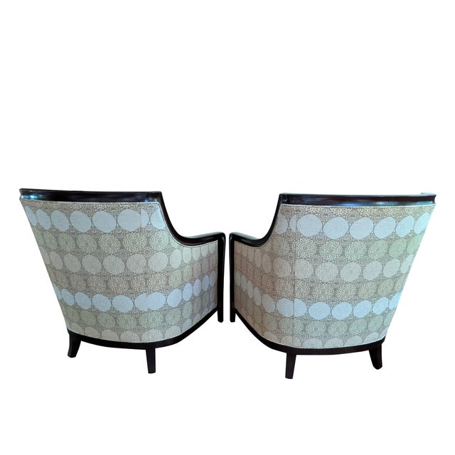 Tan Barbara Barry for Baker Furniture Salon Chairs - a Pair For Sale - Image 8 of 13