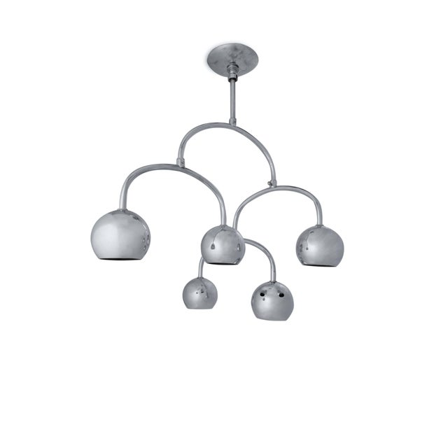 Chrome Ceiling Light - a Pair - Image 6 of 7