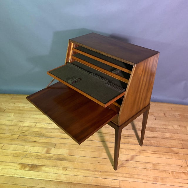 1970s Fritz Henningsen Mahogany Silverware Flip-Down Cabinet, 1970s For Sale - Image 5 of 9