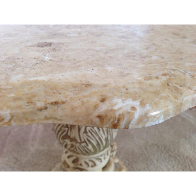 Italian Carved Marble Top Table - Image 4 of 5