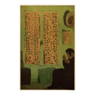 """1948 After Édouard Vuillard """"Reading by the Window"""" Vintage Parisian Offset Lithograph For Sale"""