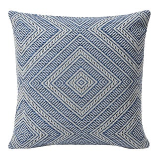 Schumacher Indoor/Outdoor Double-Sided Pillow in Tortola Print For Sale