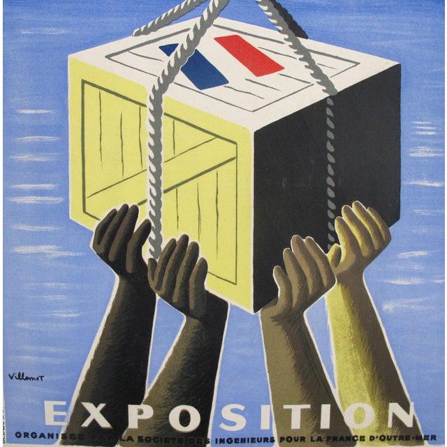 1940s 1949 Original French Exhibition Poster - Pour L'équipement De l'Union Française - Villemot For Sale - Image 5 of 6