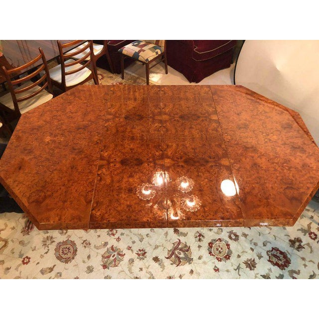 Mid-Century Milo Baughman For Thayer Coggin Burl Walnut Octagonal Dining Table For Sale In New York - Image 6 of 12