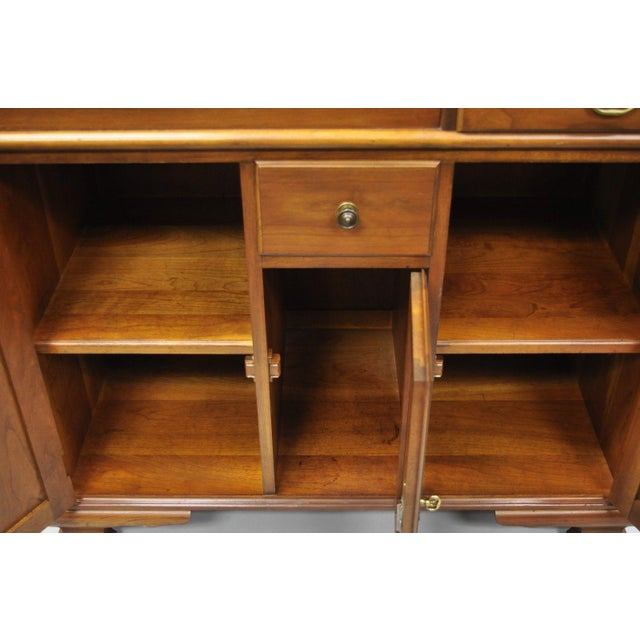 Late 20th Century Pennsylvania House Solid Cherry Wood Colonial Drysink Dry Sink Cabinet Server For Sale - Image 5 of 12
