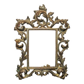 Antique Late 19th Century French Rococo Style Opening Rabbet Picture Photo Frame For Sale