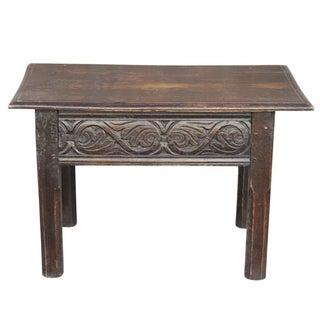 Dark Oak Carved Coffee Table