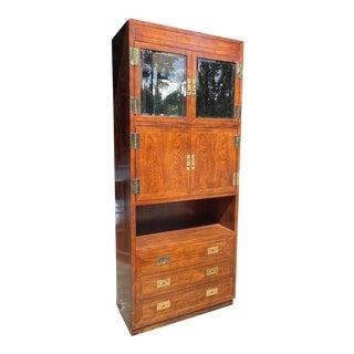 Vintage Henredon Campaign Cabinet For Sale