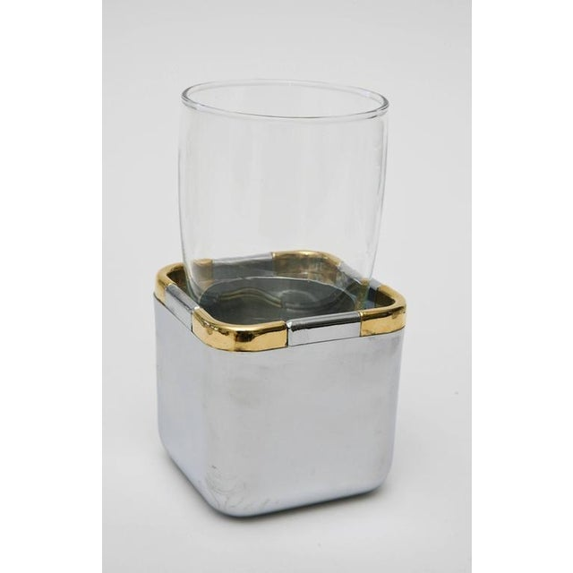 1980s Set of 17 Resin,Glass and Gold-Plated Patio/Garden Pool Drinking Glasses For Sale - Image 5 of 11