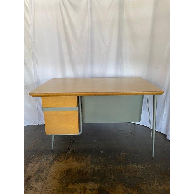 Brunswick Co. 1950s Brunswick & Co Mid Century Writing Desk For Sale - Image 4 of 13