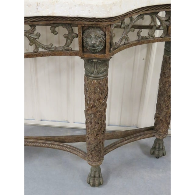 Maitland Smith Console with Lions Heads - Image 3 of 5